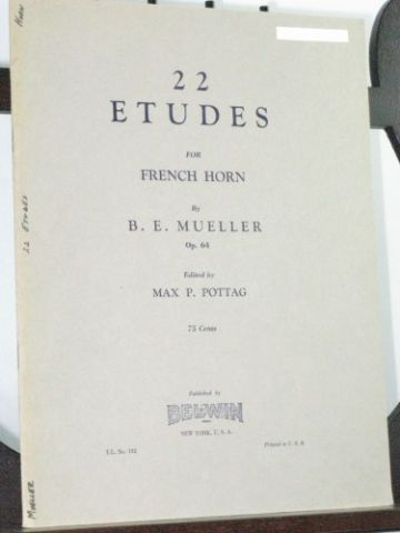 Mueller B E - 22 Studies Op 64 for French Horn